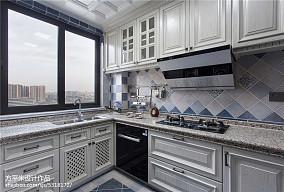 质朴104平美式三居厨房装饰图片三居美式经典家装装修案例效果图