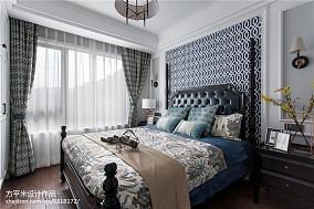 简洁87平美式三居设计效果图三居美式经典家装装修案例效果图