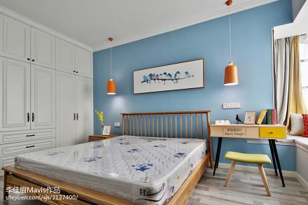 悠雅115平混搭三居卧室图片大全卧室