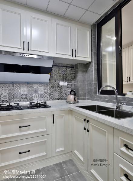 优美113平混搭三居厨房装饰图餐厅