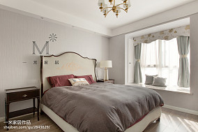 平米二居卧室美式装修效果图片二居美式经典家装装修案例效果图