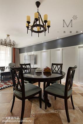 优雅70平美式二居餐厅效果图片大全二居美式经典家装装修案例效果图