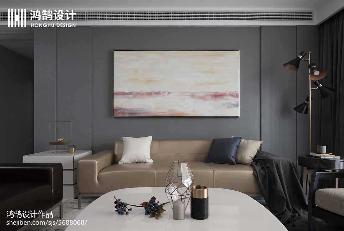 优雅115平现代三居客厅效果图片大全客厅