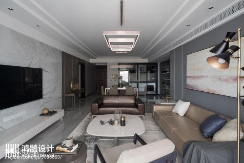 浪漫160平现代三居客厅装潢图客厅沙发151-200m²三居家装装修案例效果图