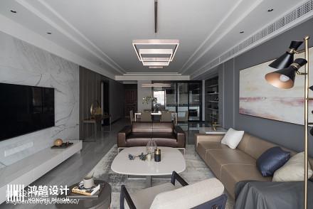 浪漫160平现代三居客厅装潢图三居现代简约家装装修案例效果图