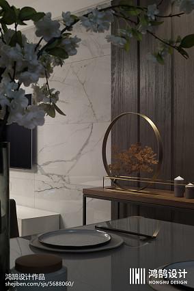 明亮84平现代三居餐厅效果图三居现代简约家装装修案例效果图