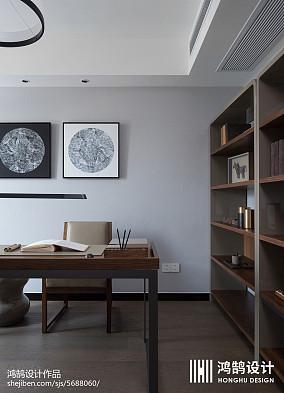 简洁99平现代三居书房布置图三居现代简约家装装修案例效果图