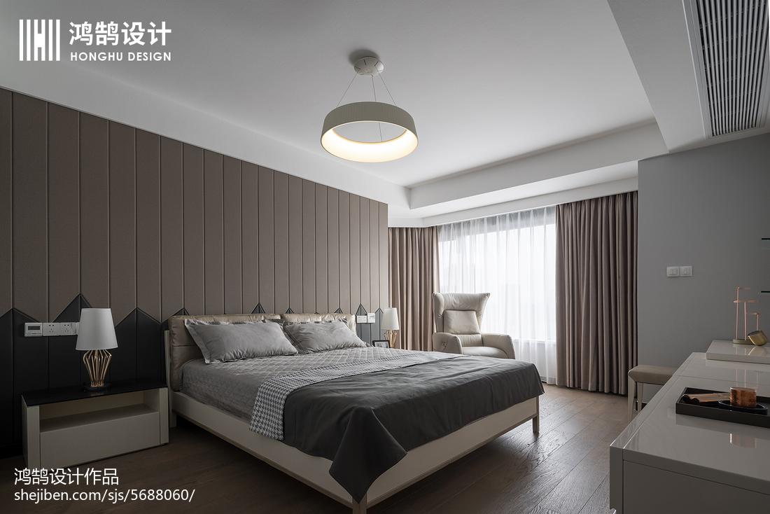 160平现代主卧设计图卧室现代简约卧室设计图片赏析