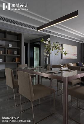 悠雅87平现代三居餐厅装修装饰图三居现代简约家装装修案例效果图