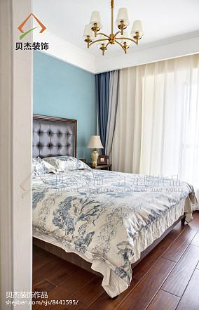2018大小108平美式三居卧室装修效果图卧室美式经典设计图片赏析