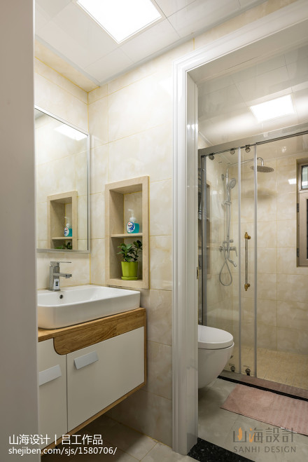 优雅75平简约三居卫生间装修图卫生间