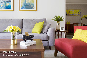 2018精选简约四居客厅装修效果图客厅现代简约设计图片赏析