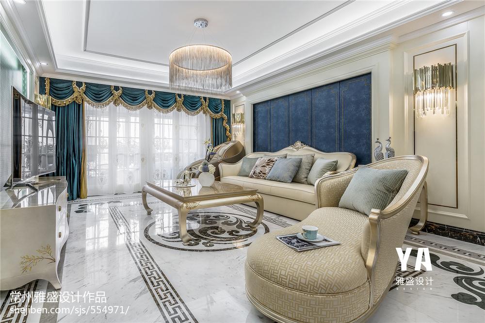 2018精选三居客厅欣赏图三居欧式豪华家装装修案例效果图