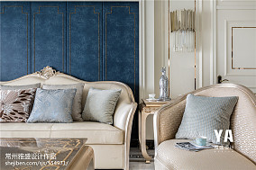 悠雅118平法式三居客厅图片大全三居欧式豪华家装装修案例效果图