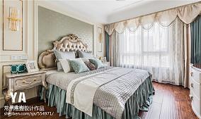 2018面积109平三居卧室装饰图三居欧式豪华家装装修案例效果图