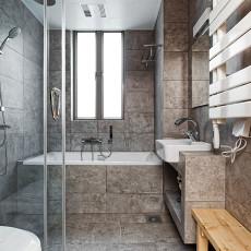 精美面积80平日式二居卫生间装饰图