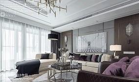 2018精选面积129平混搭四居客厅装饰图