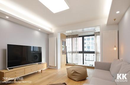 华丽57平日式二居客厅布置图客厅