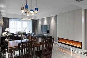 面积119平美式四居餐厅装饰图片