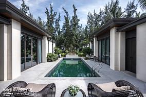 精美144平米混搭别墅花园装修图片欣赏
