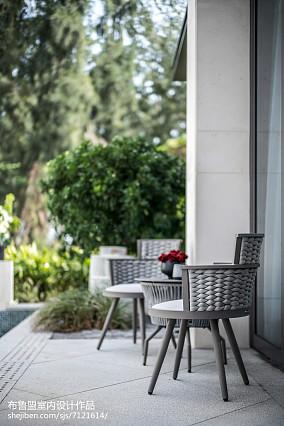 精美面积140平别墅花园混搭装修设计效果图片欣赏