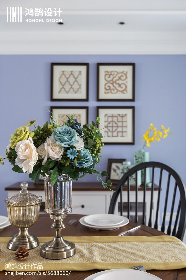 精美93平米三居餐厅美式装修设计效果图片大全厨房1图美式经典餐厅设计图片赏析