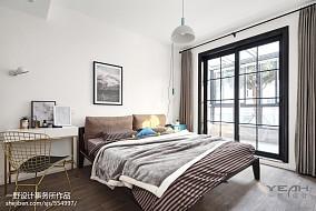 73m²北欧风格卧室设计图卧室北欧极简设计图片赏析