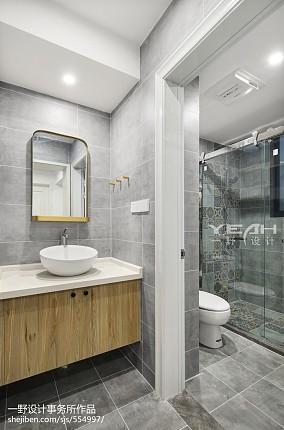 73m²北欧风格卫浴设计图卫生间北欧极简设计图片赏析