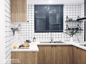 热门78平米二居厨房北欧装修欣赏图片