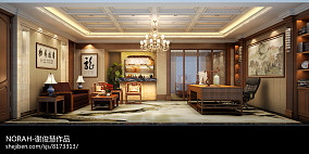 蓝色清新豪宅别墅图片