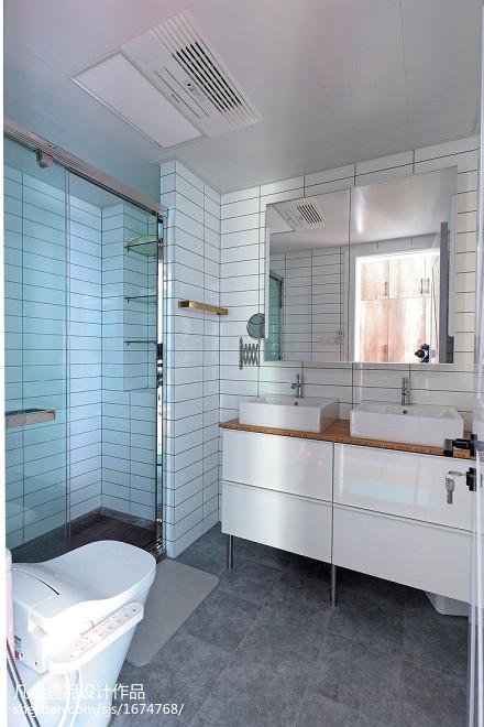 典雅57平北欧复式卫生间装修装饰图卫生间