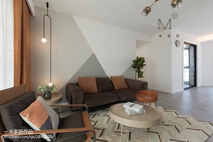 大气116平现代二居客厅效果图二居现代简约家装装修案例效果图