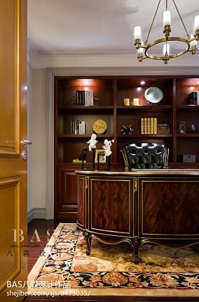精美136平米欧式别墅书房实景图片别墅豪宅欧式豪华家装装修案例效果图