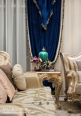 精选面积119平别墅客厅欧式装修效果图片欣赏别墅豪宅欧式豪华家装装修案例效果图