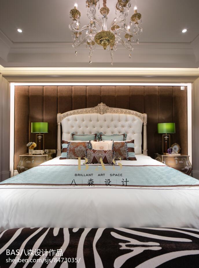 2018精选110平米欧式别墅卧室装修设计效果图卧室