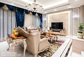 精美面积115平别墅客厅欧式装修图片欣赏别墅豪宅欧式豪华家装装修案例效果图