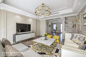 精美面积130平美式四居客厅装修图片大全