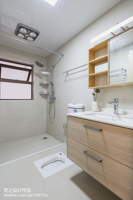 热门94平米三居卫生间中式装修效果图卫生间