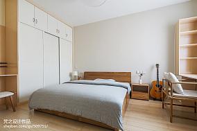 精美98平米三居卧室中式装修效果图片欣赏三居中式现代家装装修案例效果图