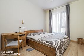热门97平米三居卧室中式装饰图片欣赏三居中式现代家装装修案例效果图