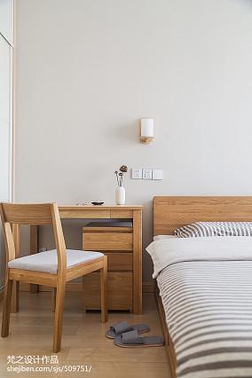 平米三居卧室中式装修实景图片欣赏三居中式现代家装装修案例效果图