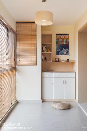2018精选面积97平中式三居阳台实景图片三居中式现代家装装修案例效果图