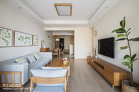 2018面积95平中式三居客厅装修实景图片三居中式现代家装装修案例效果图