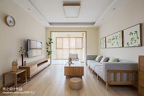 精选面积94平中式三居客厅装修实景图片三居中式现代家装装修案例效果图