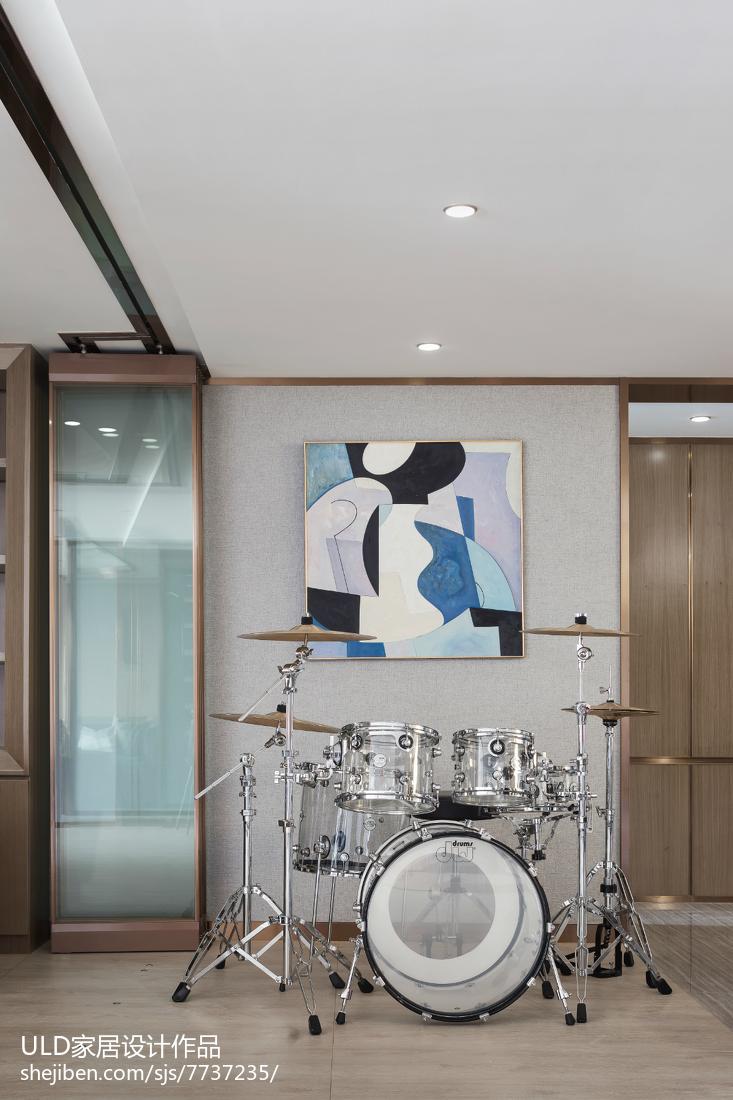 明亮345平现代样板间书房设计图功能区窗帘现代简约功能区设计图片赏析