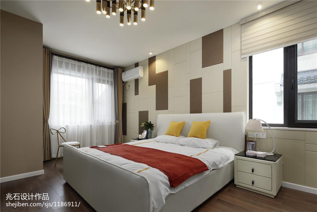 现代别墅次卧实景图卧室现代简约卧室设计图片赏析