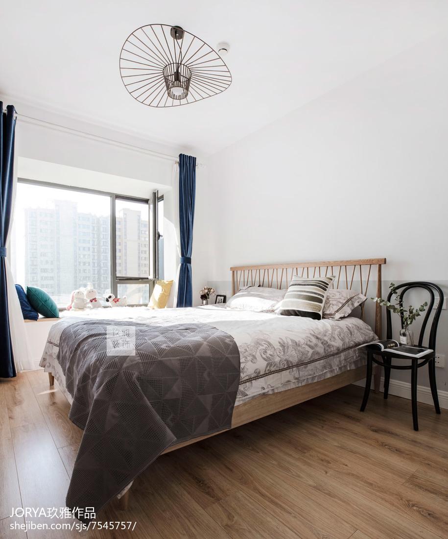 北欧风二居主卧设计图卧室北欧极简卧室设计图片赏析