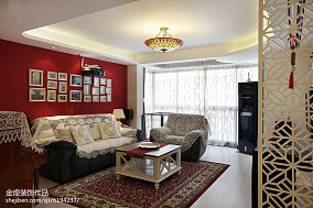 热门104平米三居客厅田园欣赏图片大全