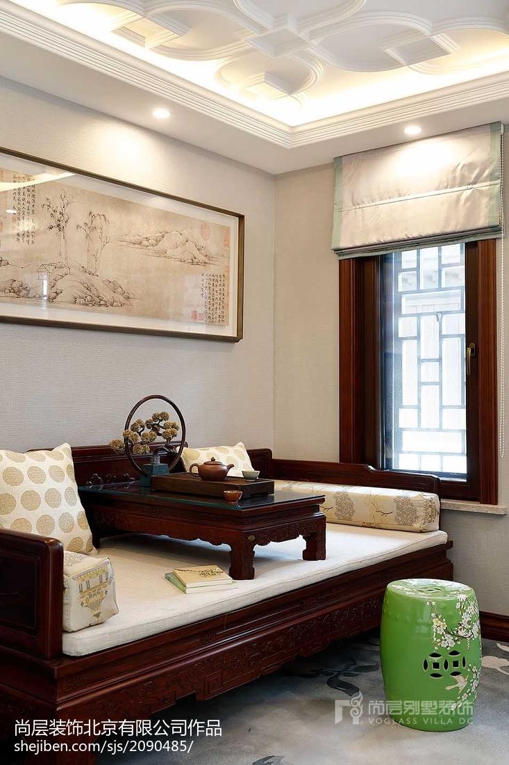 精选120平米中式别墅休闲区装修欣赏图客厅中式现代客厅设计图片赏析