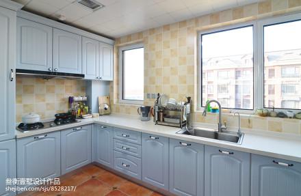 精选126平米美式复式厨房装饰图片餐厅